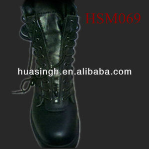 XY,Exclusive Fashion Front Zip Design Riot Military Tactical boots Name Brand