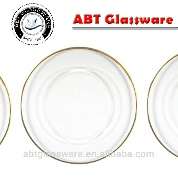 Gold Rim Glass Charger Plates, Gold Rim Glass Charger Plates ...