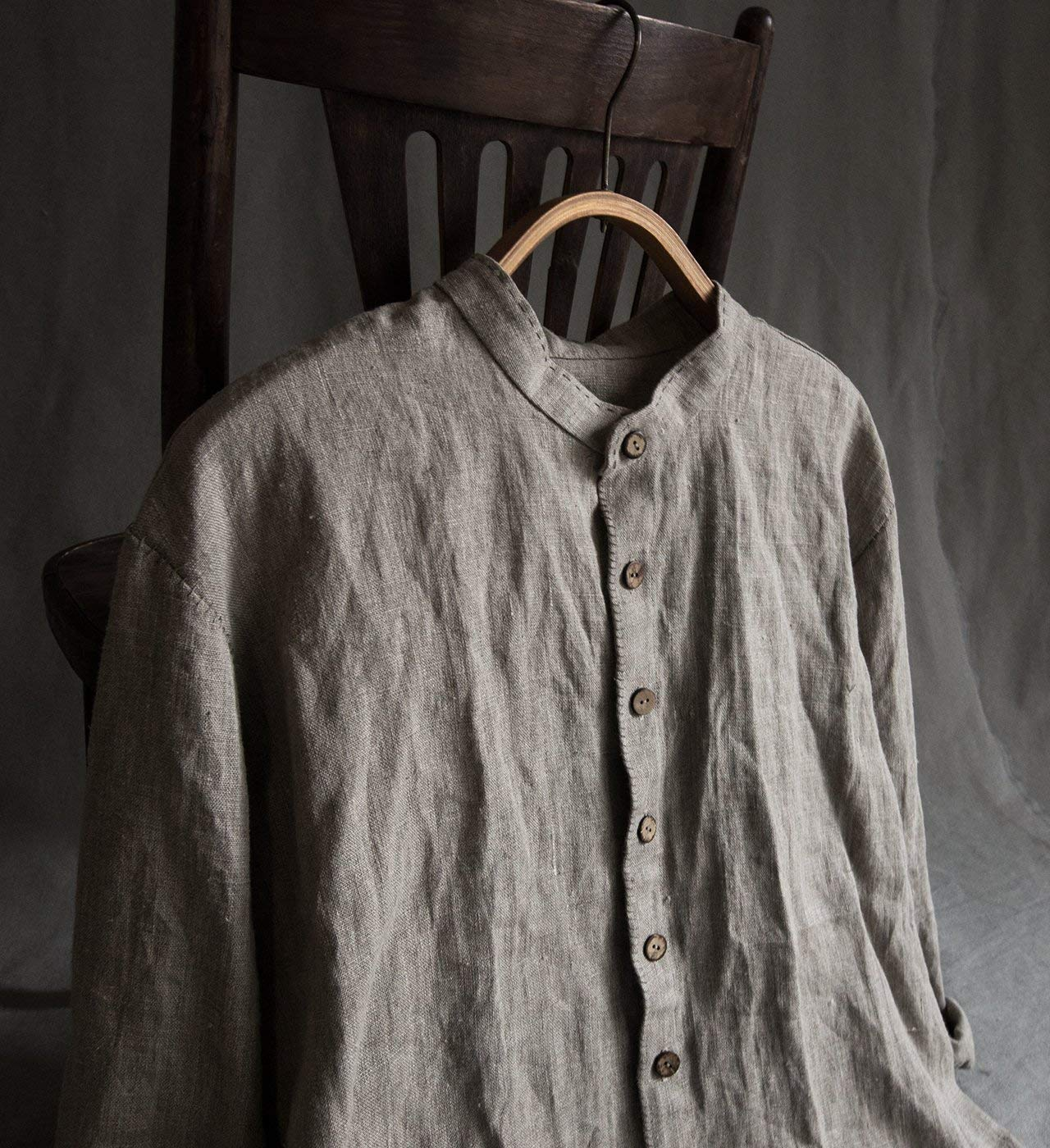 23b253a03d Get Quotations · Linen men s clothing linen men s shirt blac shirt for man  grey linen long sleeve shirt linen