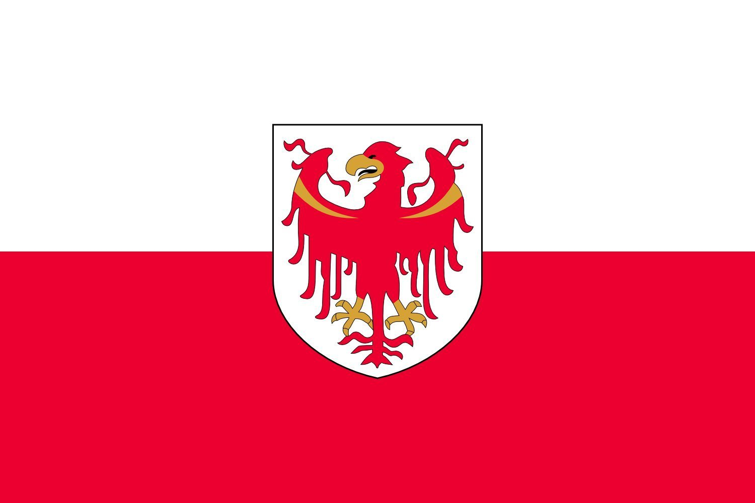magFlags Large Flag Autonomous Province of Bolzano - Upper Adige/South Tyrol | landscape flag | 1.35m² | 14.5sqft | 90x150cm | 3x5ft - 100% Made in Germany - long lasting outdoor flag