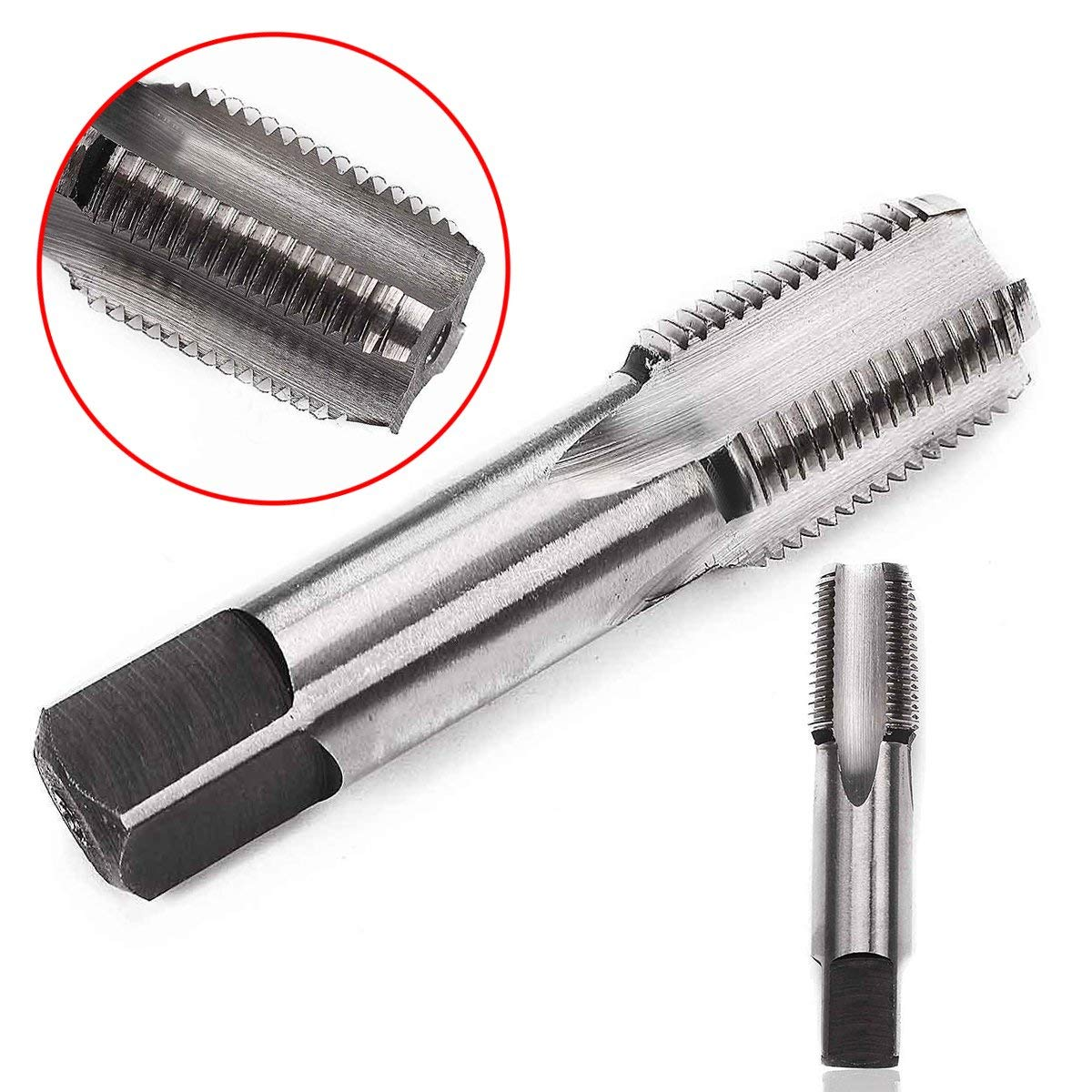 """WILLAI 1pc Mayitr Smooth High Hardness 3/8""""-18 NPT Screw Tap Durable High Speed Steel HSS Thread Cutting Taper Pipe Taps 7016mm"""