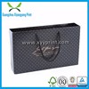 Popular Branded Custom Made Black Paper Shopping Bag With Handles, Paper Bag With Logo Print