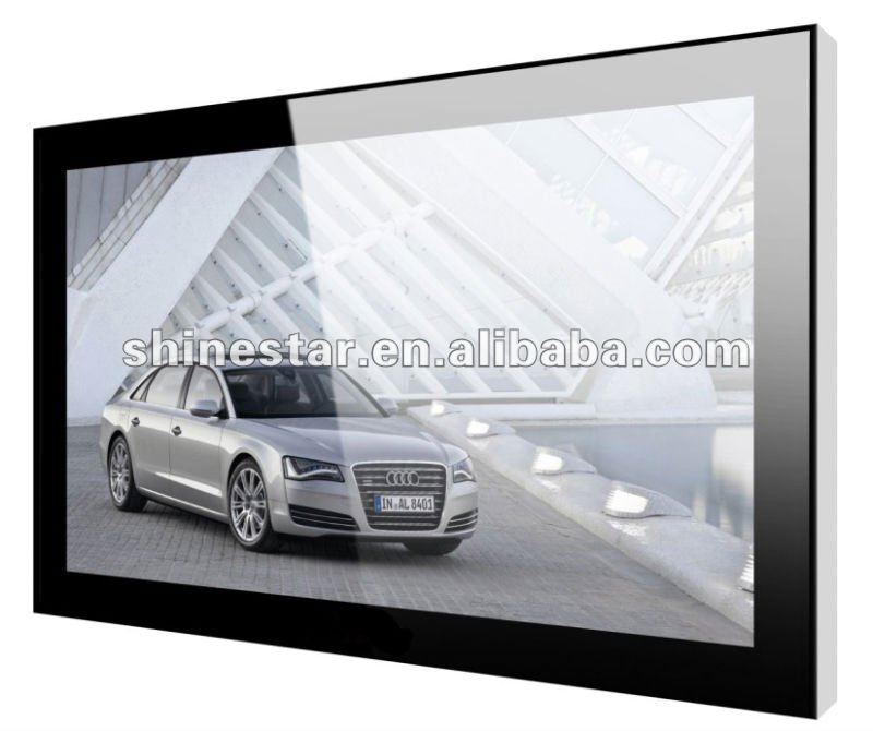 55inch LAN network LCD media signage player with Tempered glass surface&antitheft lock