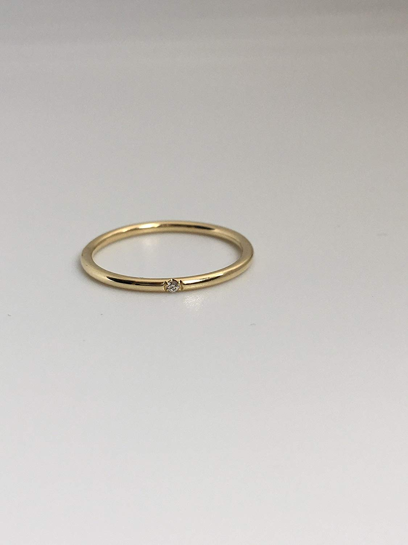 Diamond Gold Ring, 14K Gold Diamond ring, Diamond Gold Promise Ring, Dainty 14K Gold Diamond Ring, Womens Gift, Minimalist Gold Diamond Ring