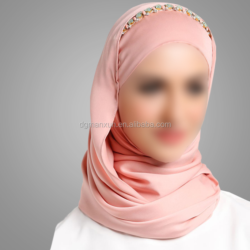 Dubai Fashion Muslim Women Scarf Beads Most Beautiful Turkey Scarf