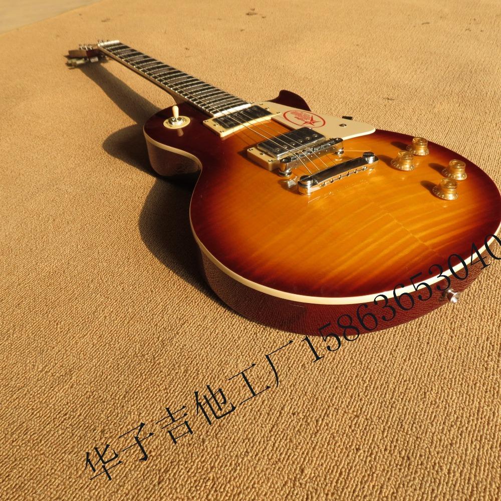 lp the new standard electric guitar manufacturers honey sunburst flamed maple veneer transparent. Black Bedroom Furniture Sets. Home Design Ideas
