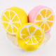 Slow rising fruit scented kawaii cute super soft jumbo half lemon toys PU gifts for children