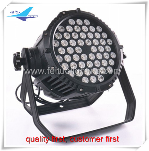 waterproof 54x3w DMX LED RGBW par light HOME PARTY LIGHTS FOR Entertainment