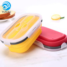 Unisex Food Grade Silicone foldable lunch box