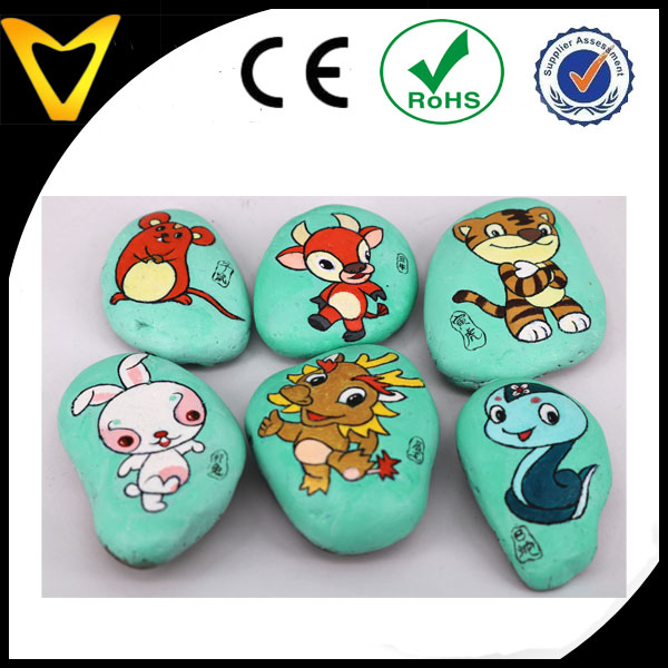 Hand Painted Animal Elememt Best Cobblestone Christmas Gift Set For Little Boy And Girls' Teaching