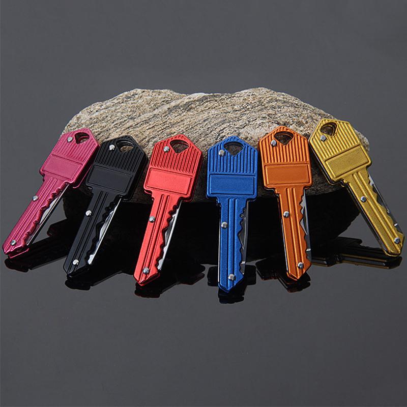 Stainless steel Colorful Mini Key Knife Folding
