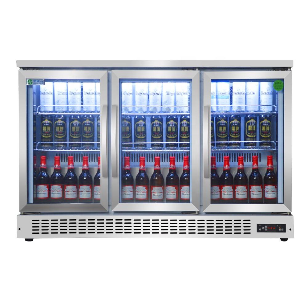 3 Doors Counter Top Beverage Fridge Beer Display Cooler Refrigerator Back  Bar Beer Cooler Stainless Steel Fridge - Buy Bar Cooler Fridge,Back Bar