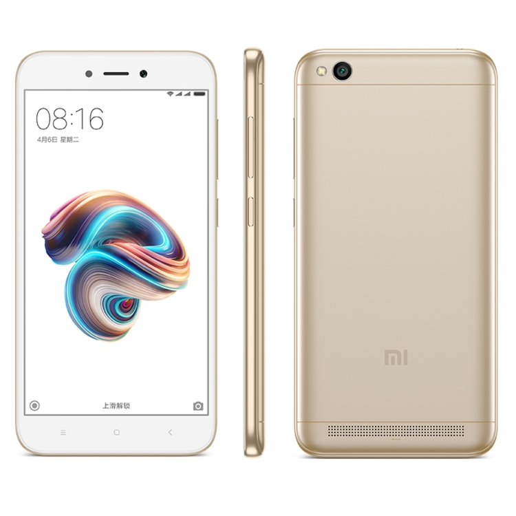 HK Stock Xiaomi Redmi 5A, 2GB+16GB Official Global Version 4G Dual <strong>SIM</strong>