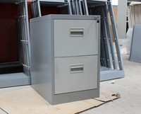 Rust-proof office 2 drawer stainless steel file cabinet/Central lock fireproof filing cabinet