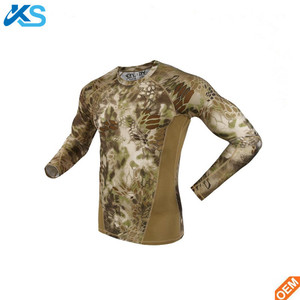 Summer Long Sleeve Military Sublimation Camouflage Men T Shirt Patchwork Quick Dry 100%Polyester Tshirt Realtree Camo T-shirt
