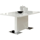 white gloss wooden dining room tables set