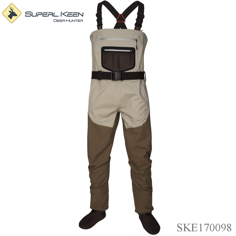 Custom Waterproof Breathable Fishing Stocking Foot Wader