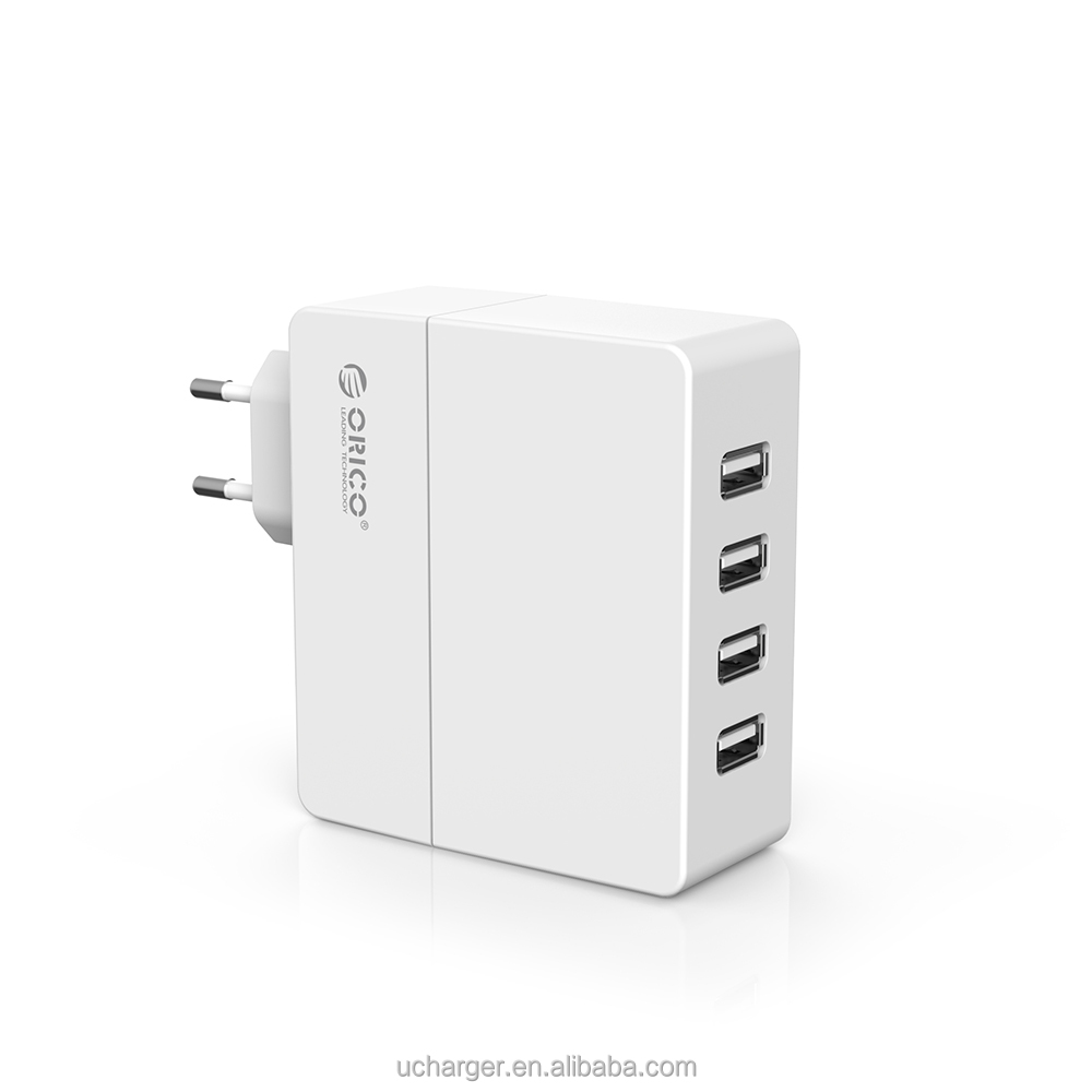 5V 6.2A usb charger 4 port portable usb charger for Android Tablet