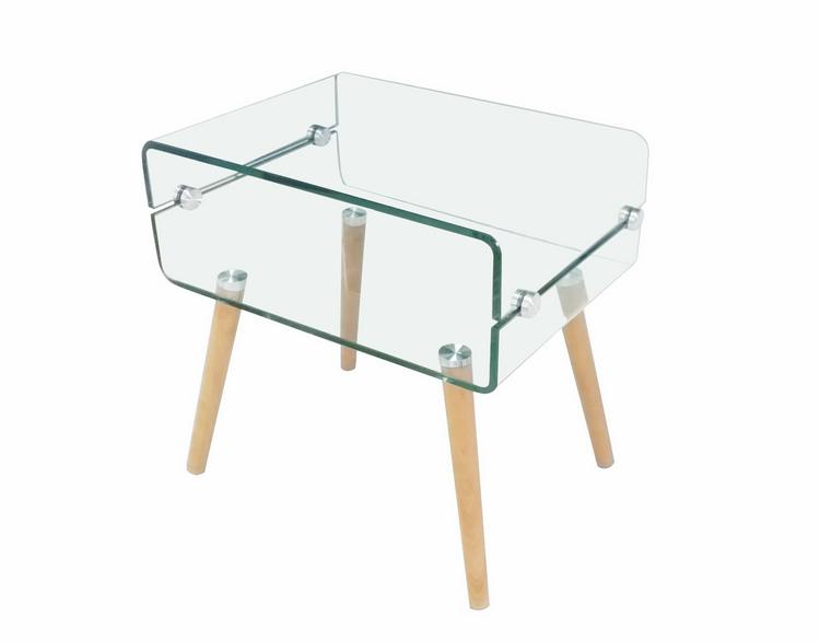 Modern wood glass teapoy coffee table price buy modern for Glass tea table price