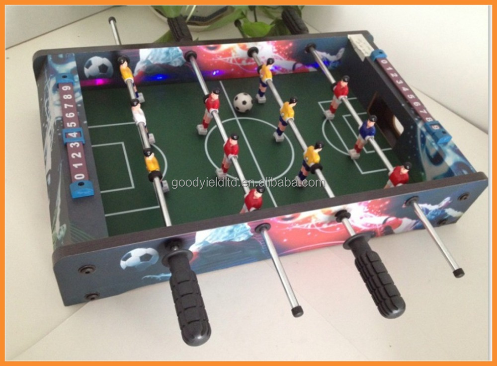 Hot sold Mini printed Wood Soccer Table Top Game(GYTF01009)