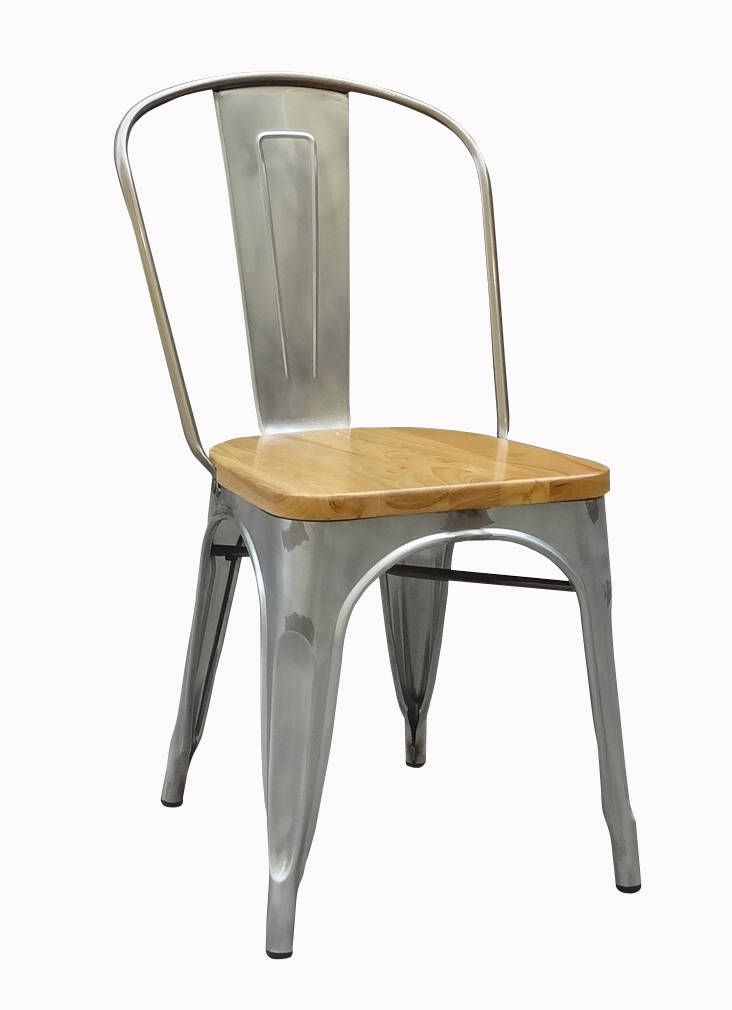 Outdoor Galvanized Metal Vintage Chair With Elm Wood Seat   Buy Metal  Vintage Chai,Galvanized Restaurant Chair,Elm Seat Product On Alibaba.com