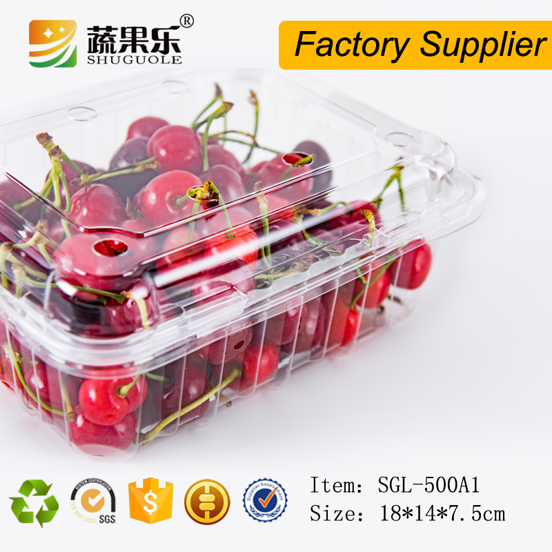 China disposable transparent plastic fruit cherry tray