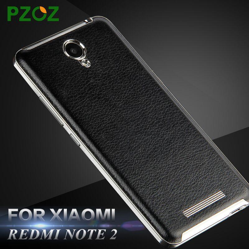 PZOZ xiaomi redmi note 2 case leather battery back cover Original luxury replacement shell xiomi redmi