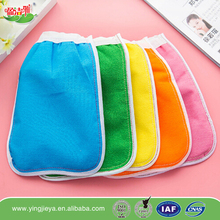 dual purpose microfiber mitt exfoliating kids child bath gloves for promotion