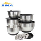 Cheap Price Stainless Steel Mixing Bowls Sets With 5 Lids and Anti-Slip Bottom