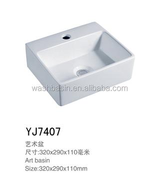 Square Porcelain Art Basin Wash Basin Ceramics Small Size One Hole ...