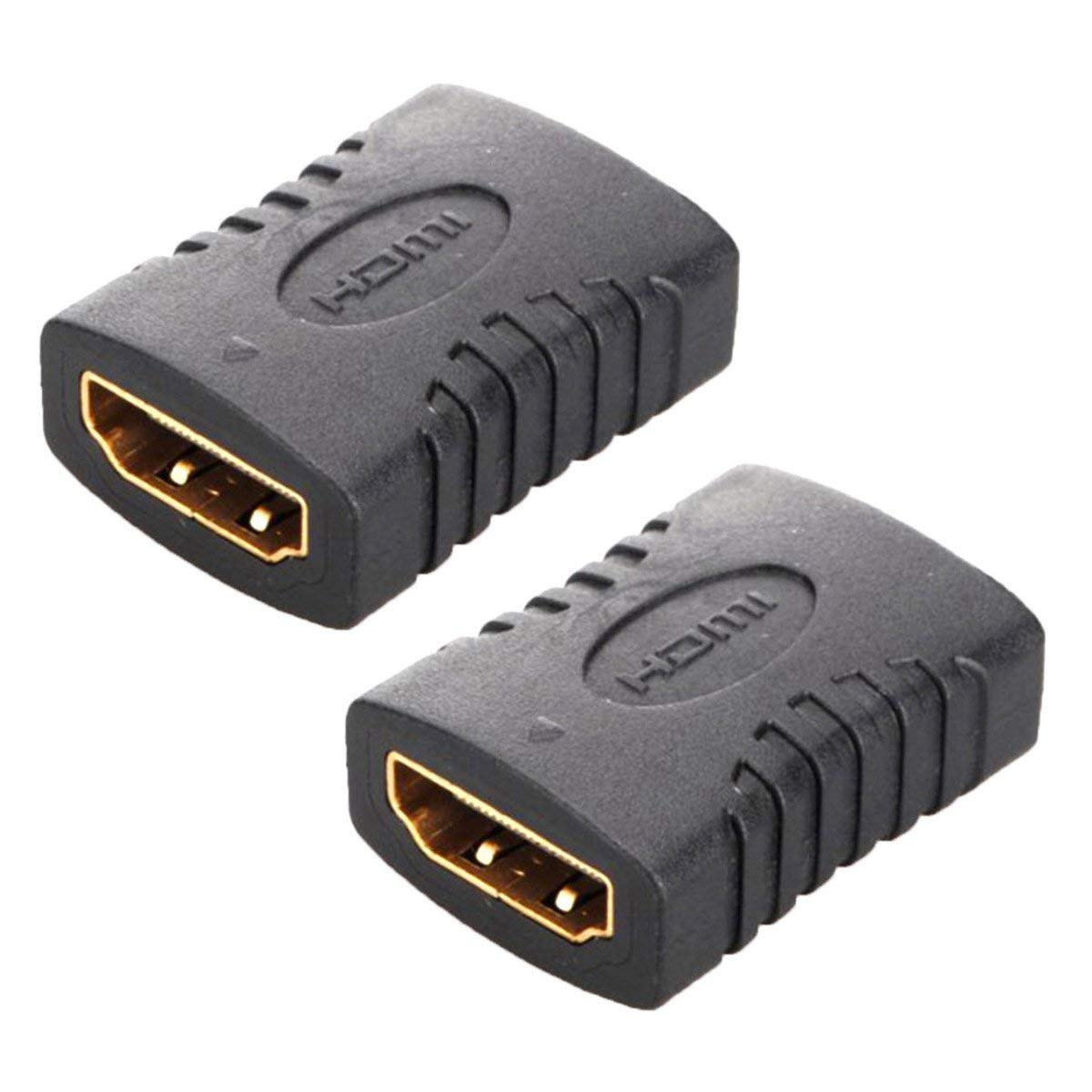 FolioGadgets HDMI Female to Female Adapter Gold Plated High Speed HDMI Female Coupler 3D&4K Resolution - 2-Pack