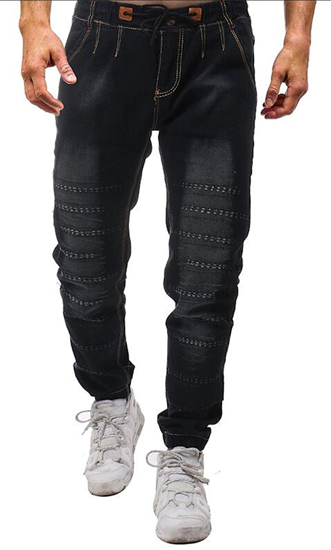 4d16618bb5f112 Get Quotations · JXG-Men Denim Pants Slim Fit Jean Jogger Stretch Jogger  Cotton Pants