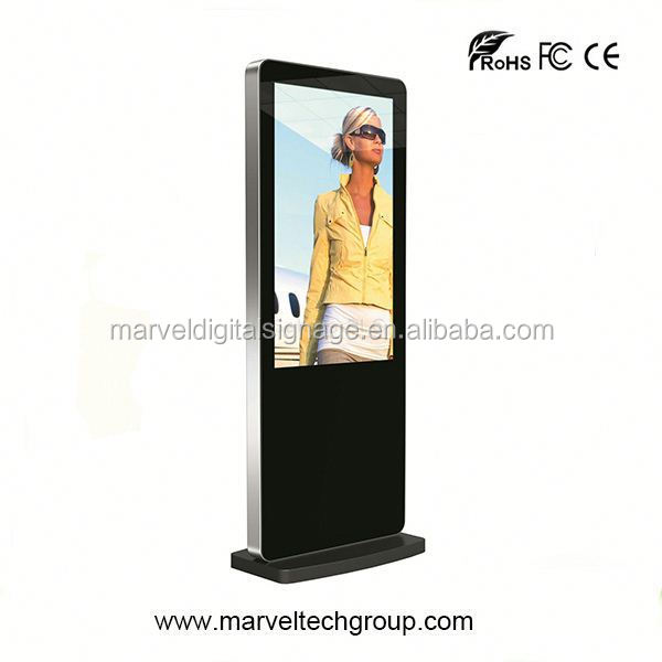 Stand alone indoor wireless wifi vertical kiosk digital signage frame