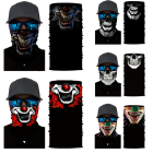 Windproof Distinctive Skull Polyester Headwear Bandana Tube
