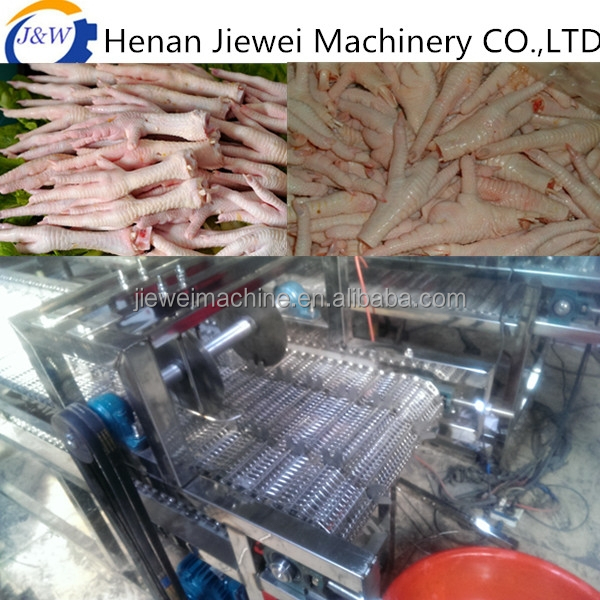 Stainless steel automatic Chicken paw cutting machine with working table for sale