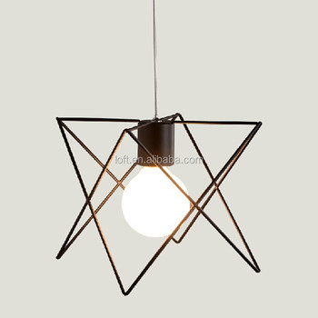 Nordic Retro Style Loft Droplight Irregular Triangle Iron Art Geometric Pendant Light Industrial Ceiling Lighting L&  sc 1 st  Alibaba & Nordic Retro Style Loft Droplight Irregular Triangle Iron Art ...