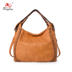 High Quality Sewing Stitching Line Hobo Bag Brown Shenzhen Sequence handbags