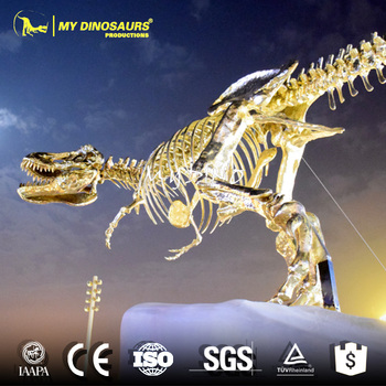 My-dino M14-15 golden dinosaur skeleton luxury decor for showcase