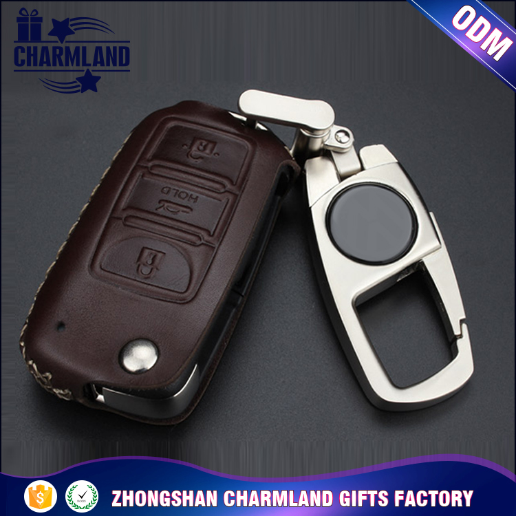 4 styles promotion car key cover , 3 buttons remote leather car key case for VOLKSWAGEN