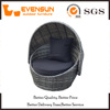 Great Dog Rattan Bed With Canopy Dark Brown
