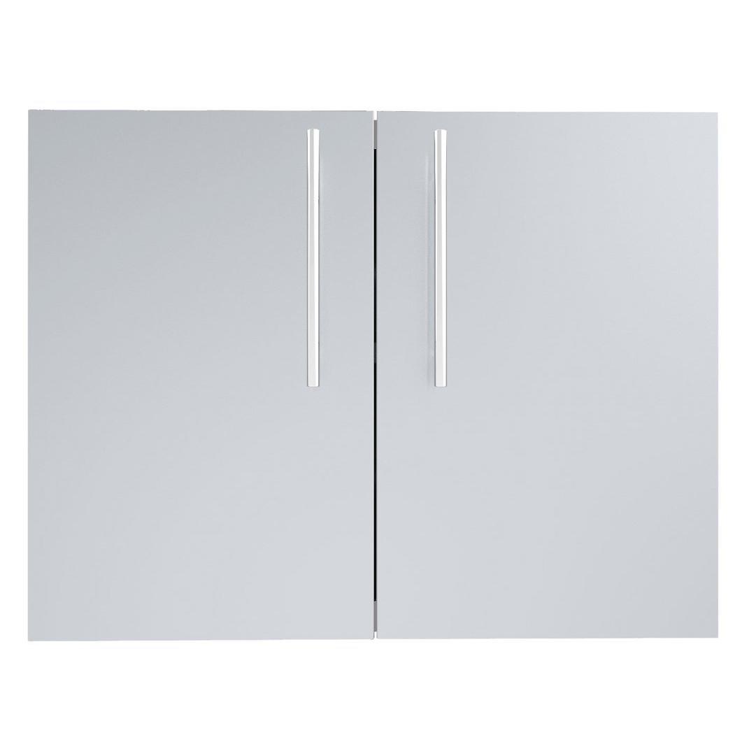 "SUNSTONE DE-DD30 Designer Series Raised Style Double Door with Shelves, 30"", Stainless Steel"