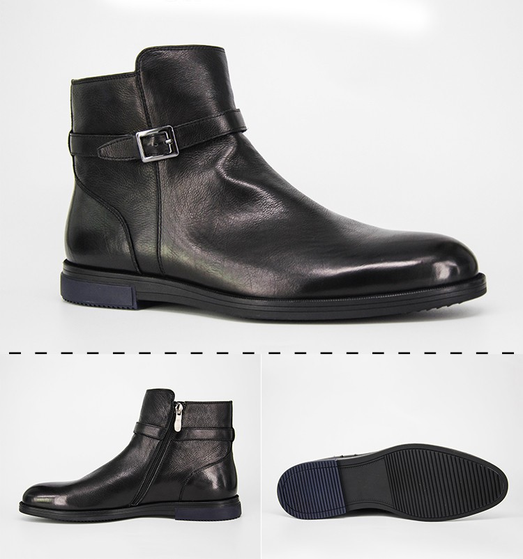 f201be61c1 Ginowald Genuine Leather High Neck Formal Ankle Dress Shoes Men ...