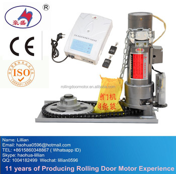 Roller Shutter Door Motor Dc 600kg Battery Backup Electric Easy