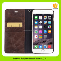 16136 2016 Luxury Built-in Card slot Silk pattern 4.7 inch Stand Flip Leather Mobile Phone Case