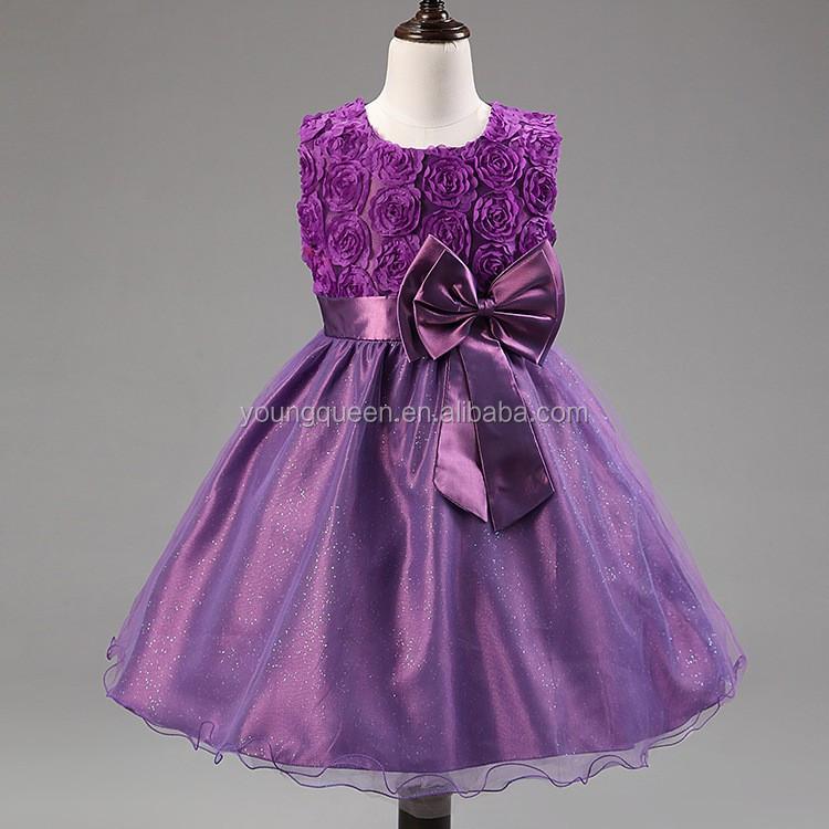 XD19 verano flor chica vestido de novia bordado para niños-Vestidos ...