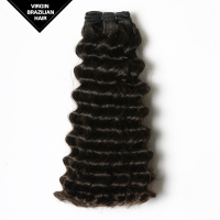 Natural Black Remy Deep Wave Hair Extension Virgin Brazilian Hair Weave For Sale