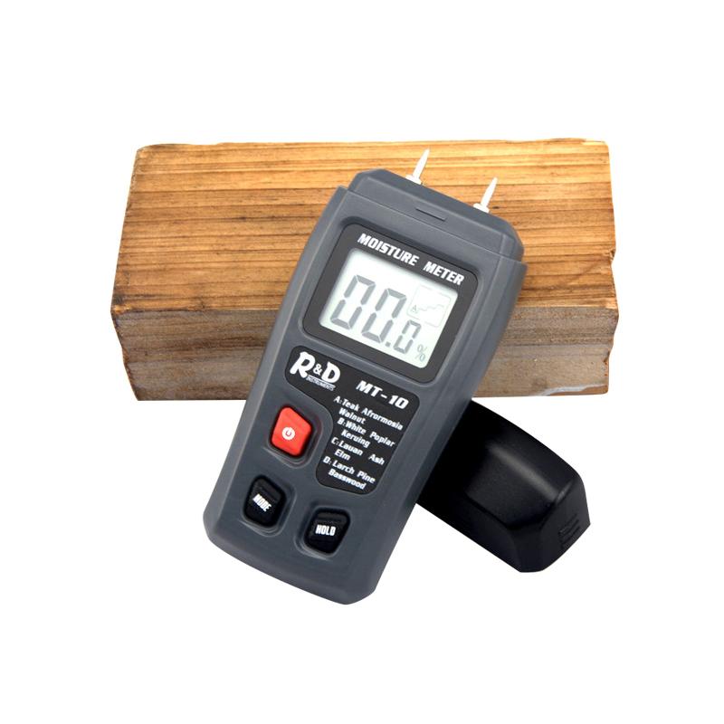 Digital Holz Feuchtigkeit Meter 0-99% Holz Feuchtigkeit Tester Zwei Pins Holz Damp Detector Tester Sensor Mit Großen Lcd Display Werkzeuge Feuchtigkeit Meter