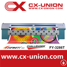 Challenger Digital flex banner printing machine,Eco solvent printer,FY-3286T with 6 SPT 508GS heads