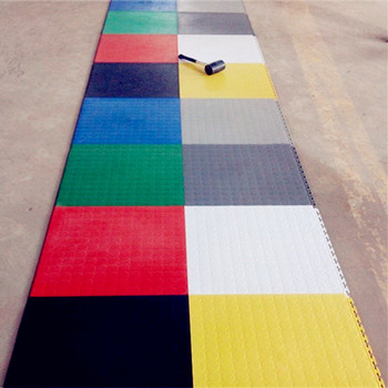 Pvc Interlocking Flooring Plastic Floor Tile Heavy Duty Warehouse ...