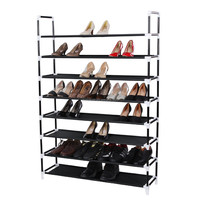 6 Tier Storage 24 Shoe Rack Organizer Closet Purse Clothing Holder Stackable